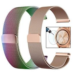 CAGOS Mesh Loop Compatible with Galaxy Watch 42mm/Ticwatch E