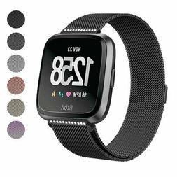 SWEES Metal Bands Compatible Fitbit Versa Smart Watch, Milan