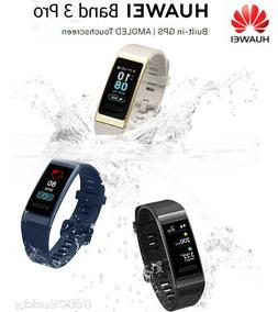 New HUAWEI Band 3 Pro Built-in GPS AMOLED Touchscreen Heart