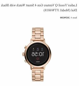 New Fossil Q Women's Gen 4 Venture HR Rose Gold -Tone Touchs