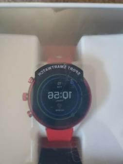 NEW! Fossil Sport Touchscreen Sport Watch Red Silicone Strap