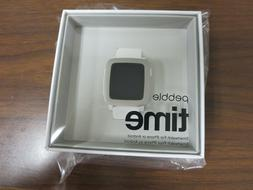 New Pebble Time Smartwatch Water resistant - Color WHITE 501