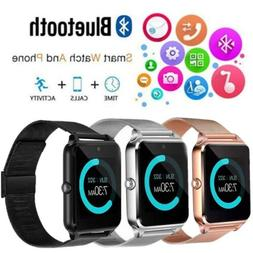 Rose Gold Bluetooth Smart Wrist Watch Steel Band Phone Mate
