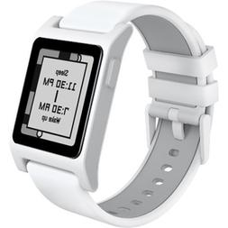 Pebble 2 + Heart Rate Smart Watch- White/White