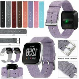 Replacement Canvas Woven Nylon Band Strap Wristband For Fitb