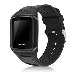 kwmobile Silicone Watch Strap for Tomtom Runner 1 / Golfer 1