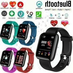 Smart Watch Fitness Tracker Bracelet Sports Bluetooth Men Wo