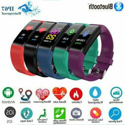 Smart Watch Fitness Tracker Fit**bit Blue*tooth Step Caolori