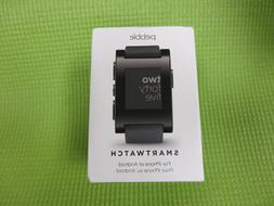 Pebble Smart Watch for iPhone or Android, Black Color, Model