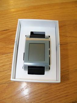 Pebble Smart Watch for iPhone or Android, Gray Color, Model