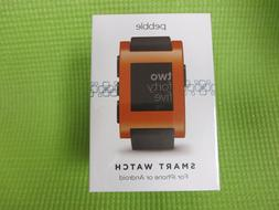Pebble Smart Watch for iPhone or Android, Orange Color, Mode