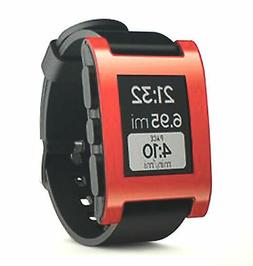 Pebble Smart Watch Red-Compatible W/iPhone-Android-iOS, iOS-
