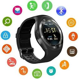SEPVER SmartWatch Round Bluetooth Screen Android  with SIM C