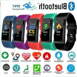 Sports Blood Pressure Heart Rate Fitness Smart Watch Wrist B