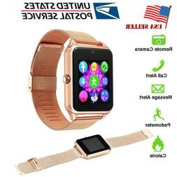 Stainless Steel Bluetooth Smartwatch Unlocked Watch for Andr