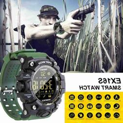 Waterproof Tactical Sports Smart Watches Bluetooth Camera Pe
