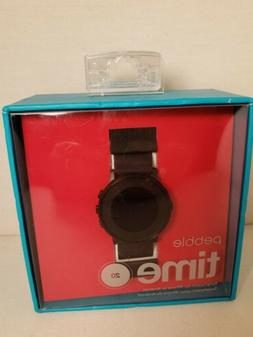 PEBBLE TIME ROUND 20MM SMARTWATCH FOR IPHONE OR ANDROID **NE