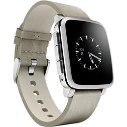 Pebble Time Steel Smart Watch for iPhone and Android Devices