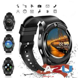 US V8 Bluetooth Smart Watch Touch Screen Wristband Fitness T