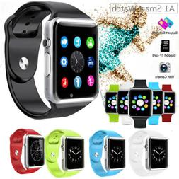 USA A1 Smart Wrist Watch Bluetooth GSM Phone For Android Sam