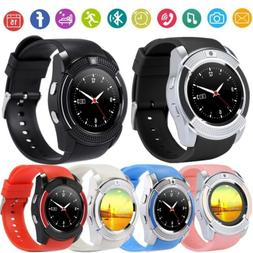 V8 Smart Wrist Watch Bluetooth SIM GSM Fitness Phone Mate Fo