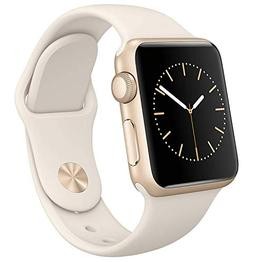 Apple Watch Series 1 Smartwatch 38mm Gold Aluminum Case, Whi