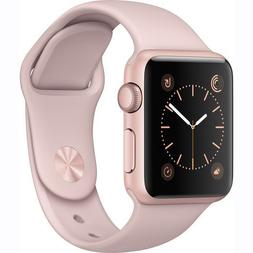 Apple Watch Series 1 Smartwatch 38mm Rose Gold Aluminum Case