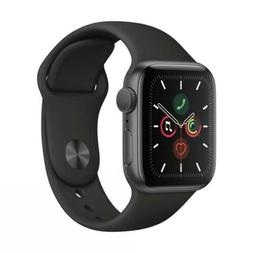 Apple Watch Series 5  Space Gray Aluminum Case with Black Sp