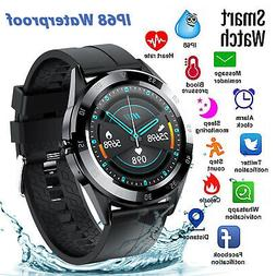 waterproof bluetooth smart watch phone mate heart