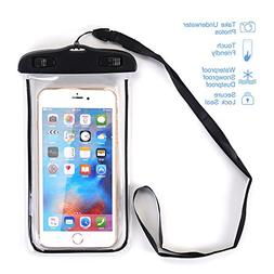 Waterproof Case, SUMOON Universal Clear Waterproof Cellphone