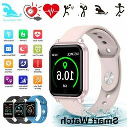 Waterproof Touch Smart Watch Women Men Sport Fitness Bracele