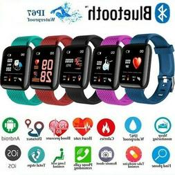 Waterproof Sport Smart Watches Heart Rate Blood Pressure Mon