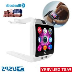 White Smart Watch Cell Phone for Samsung Galaxy Note 9 S8 S9