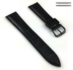 Women's Black Croco Genuine Leather Replacement Watch Band S
