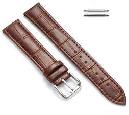 Women's Brown Croco 12 14 16mm Leather Replacement Watch Ban