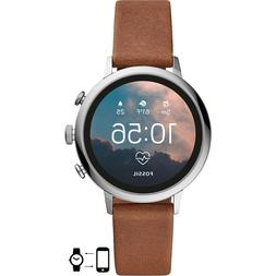 Fossil Women's Gen 4 Venture HR Stainless Steel and Leather