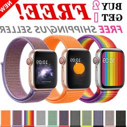 Woven Nylon Band For Apple Watch 38/42/40/44mm Sport Loop iW